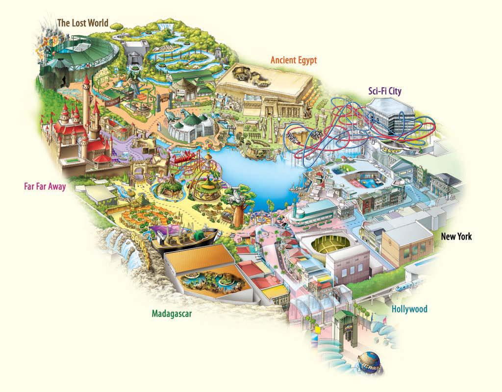 Resorts World Sentosa Universal Studios map
